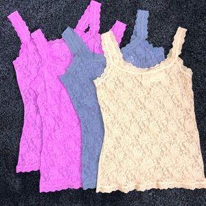 [Hanky Panky] Bundle of 4 Lace Camisoles - Large